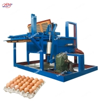 China Hot sale 1000pcs paper pulp moulding egg tray machine paper tray making machine on sale