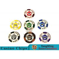 Wholesale 14 Gram Matte Sticker Custom Clay Poker ChipsWith 25pcs In A Shrink Roll from china suppliers
