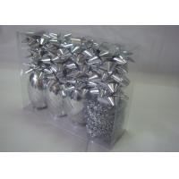 ROHS Christmas gift wrapping ribbons and bows with single - side printed