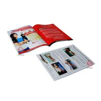 Wholesale A4, A5  glossy / matte oil varnishing saddle stitching Custom Magazine Printing service from china suppliers
