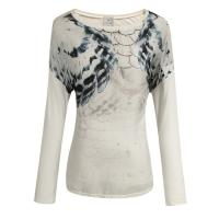 China White Ladies Long Sleeve T Shirt , ladies fashionable clothes on sale