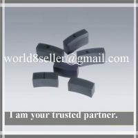 Sintered arc segment ferrite magnets