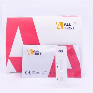 Buy cheap CRP Rapid Test Cassette Diagnostic Blood Tests Rapid Chromatographic Immunoassay from wholesalers