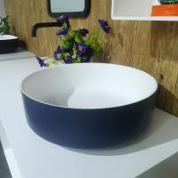 Wholesale Solid Surface Counter Top Basin Customized Colour Small Round Hand Wash Basin from china suppliers