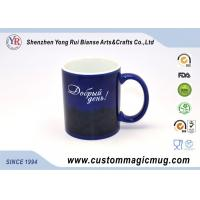 Temperature Colour Changing Ceramic Cup , Travel Blue Magic Mug 11oz
