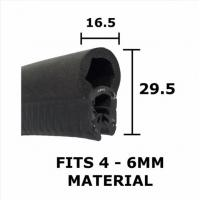 BOAT //DOOR UNIVERSAL CAR RUBBER U EDGE TRIM SEAL  VAN BONNET TRUCK BOOT