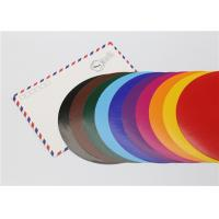 Wholesale Lick - To - Stick Colored Paper Circles , Glossy Construction Paper Circles from china suppliers