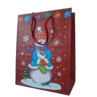 Wholesale 250gsm art Offset CYMK, Pantone Coloured Paper Personalized Christmas Gift Bags With Handl from china suppliers