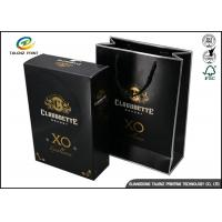 Wholesale Drawer Type Paper Wine Box Excellent Scratch Resistance For Hennessy X.O from china suppliers
