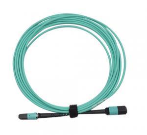 Buy cheap MPO/PC/F to MPO/PC/F for OM3 with 12B 3.0mm for 1M/5M/10M OFNP/LSZH Aqua B from wholesalers
