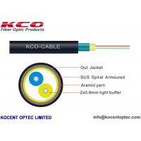 Buy cheap 2 Fiber 4 Core Armored Optical Fiber Cable FTTA 4.8mm Indoor Outdoor Field Army from wholesalers