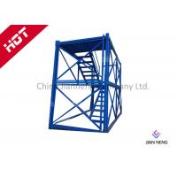 Wholesale 3m* 2m * 2m Steel Safety Construction Cage , Scaffolding Step Ladder Cage With Safey Wire Guard from china suppliers