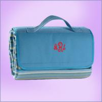 Wholesale Personalized Fleece Customized Travel Bags For gift , Travel Blanket Tote from china suppliers
