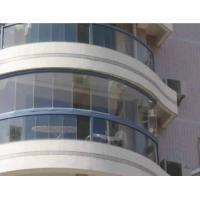 China custom bent tempered glass for curtain wall curved glass wall