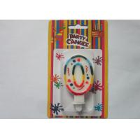 China Rainbow Novelty Number Birthday Candles Decorative Number Zero Candle for Party wholesale