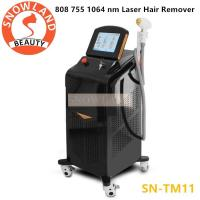 Wholesale 3 Wavelengths Hair Remover 808nm 755nm and 1064 nm Diode Laser Hair Removal Machine from china suppliers