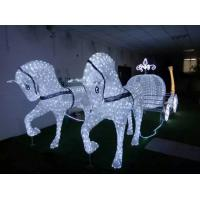 wholesale led christmas horse carriage cinderella carriage from china suppliers - Christmas Lighted Horse Carriage Outdoor Decoration
