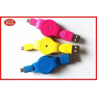 Wholesale Customized Retractable Micro USB Cable , Colorful V2.0 Micro USB OTG Cable from china suppliers