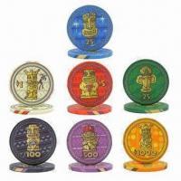China 10g Casino Ceramic Poker Chips, OEM Orders are Welcome, Small Orders Acceptable, Fast Delivery on sale