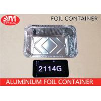Wholesale 2114 Aluminium Disposable Food Container , Disposable Tin Foil Trays 1000ml Volume from china suppliers
