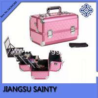 Quality New products pink diamond ABS metal makeup vanity case for sale