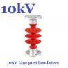 ANSI 10 kV / 11 kV Post Insulator Creepage Distance 380mm For Substation