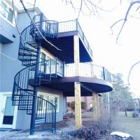 Chinese Wrought Iron Spiral Stairs , Outdoor Spiral Staircase Prices , Used  Spiral Staircase