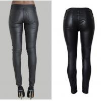 Wholesale fashion&casual  high waist pu leather long pencil pant trousers for women from china suppliers