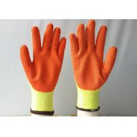 Wholesale 10 Gauge Latex Coated Gloves Yellow Cotton / Polyester Knitted For Construction from china suppliers