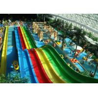 Wholesale Indoor Rainbow 6 Lines Fiberglass Slides 7m Heigth Eco-friendly from china suppliers