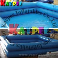 Square inflatable swimming pool double tubes pvc pool Square swimming pools for sale