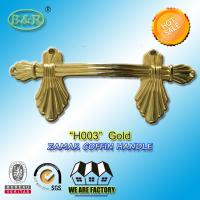 Wholesale European style zamak metal casket handle fitting H003 size 22.5*10.5cm color gold zinc alloy handle from china suppliers