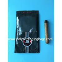 Wholesale Custom classic black cigar bag general zipper plastic moisturizing bag with 4-6 cigars from china suppliers