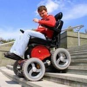 China 4x4 powered wheelchair, max. climb ability 100% on sale
