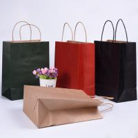 Wholesale Folding Brown Paper Shopping Bags With Strong Heat Resistant Glue Reinforce from china suppliers