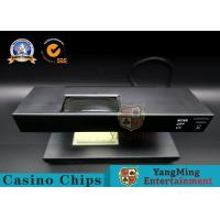 Wholesale Black Desktop Money Detector / UV Light Checker Anti - Counterfeiting Identifier With Poker Chips from china suppliers