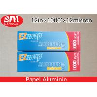 Wholesale Premium Catering Aluminium Foil Roll 12In X 12 Micron X 1000Ft With Cutting Edge from china suppliers