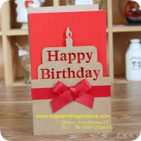Wholesale Birthday Cards with Ribbon from china suppliers