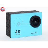 2.0 Inch LCD Blue 4k Sports Action Camera FHD Wide Angle With Water Proof Case