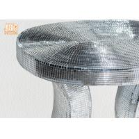 Wholesale Oval Top Silver Mirror Mosaic Glass Table / Pedestal from china suppliers