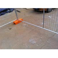 Hot Dipped Galvanized Temporary Fence AS4687-2007 Standard 42 microns Zinc thick 2.1m height and 2.4m width