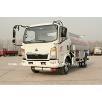 Wholesale sinotruk howo 4x2 light mini oil tank truck 1-6cbm 6000Liter fuel tanker truck for sale from china suppliers