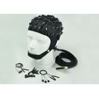 Neuroscan Compatible EEG Electrode Cap Blue Black Cap Color 32 / 64 /128 Channel