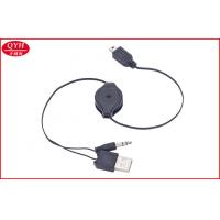 Wholesale Mini 5pin to 3.5MM jack Two Way Retractable Cable For DVD Player PSP from china suppliers