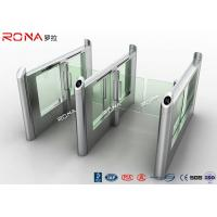 Wholesale Smart Electronic Flap Waist Height Turnstiles RFID Security Gate For Pedestrian Control from china suppliers