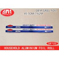 Wholesale Foods Packing Aluminium Paper Roll18IN X 12 Micron X 25Ft 37.5SQFT Grill Foil Roll Type from china suppliers