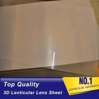 Wholesale High quality 51X71CM 0.25MM PET Lenticular Lens Film sheet lenticular lenses  for 3d lenticular printing service Baharin from china suppliers