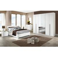 White High Gloss Bedroom Furniture Sets 6 Door Mirrored Wardrobe Acid Resistant
