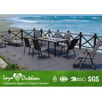 China Stone Top Patio Furniture Dining Sets Pest Control With Powder Coating BSCI 10pcs. wholesale