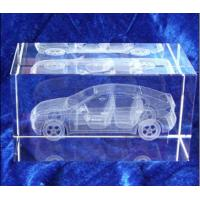 Acrylic laser inner carve number for 3D automobile model
